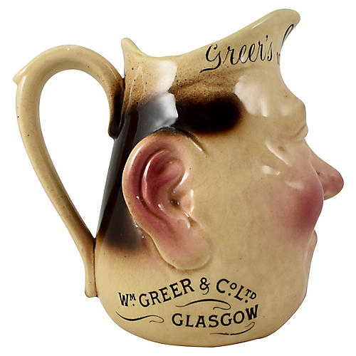 Scotch Whisky Advertising Face Jug