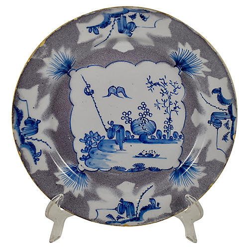 18th-C. English Bristol Plate