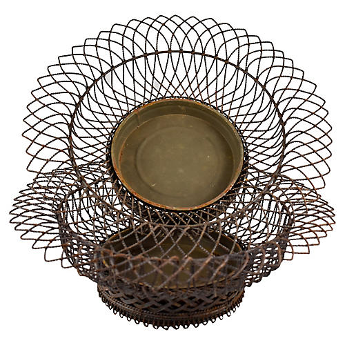 19th-C. French Wire Jardinière