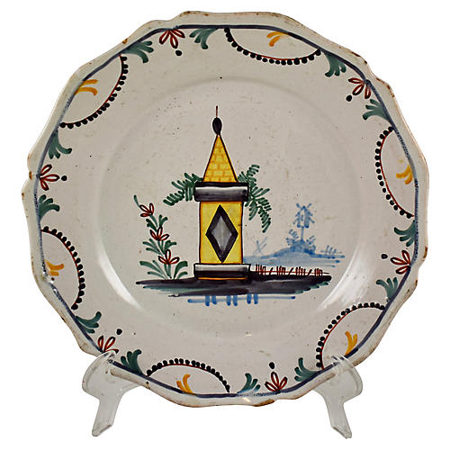 18th-C. Nevers French Bastille Dish