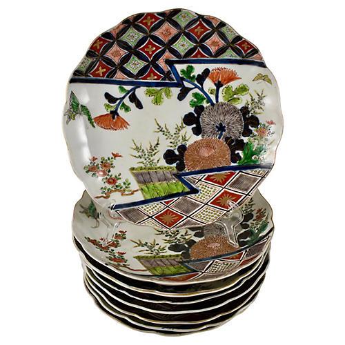 19th-C. Japanese Imari Plates, S/8
