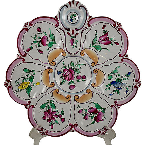 St. Clément French Floral Oyster Plate