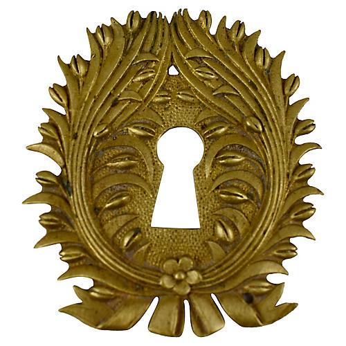 French Ormolu Escutcheon Keyhole Cover