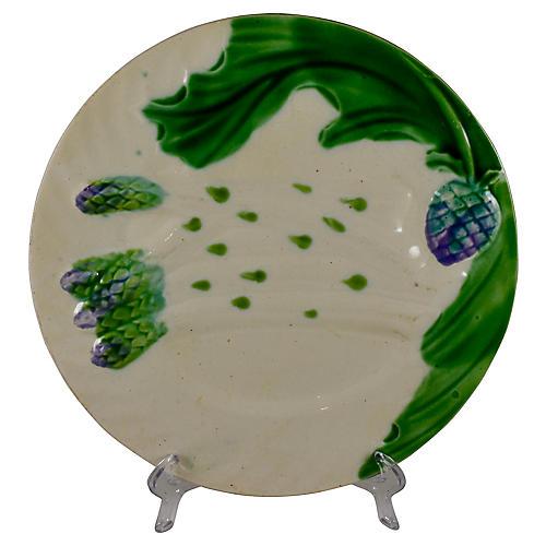 Salins French Asparagus Artichoke Plate