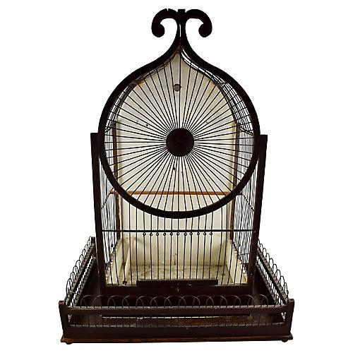 Victorian Gothic Folk Art Bird Cage