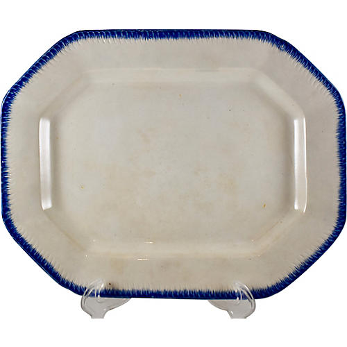 English Feather Edge Pearlware Platter