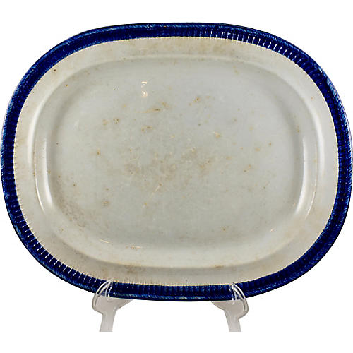 R&J Clews Pearlware Oval Platter