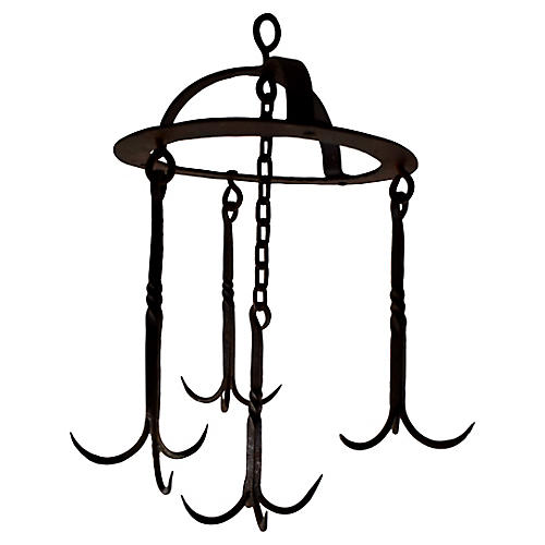 Early 19-C French Iron Butchers Rack