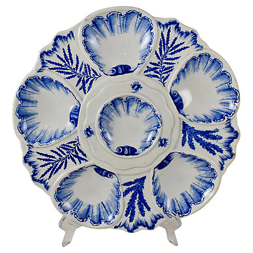 Vieillard & Cie Chinoiserie Oyster Plate