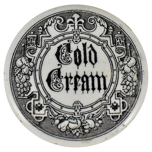 Victorian Gothic Cold Cream Pot
