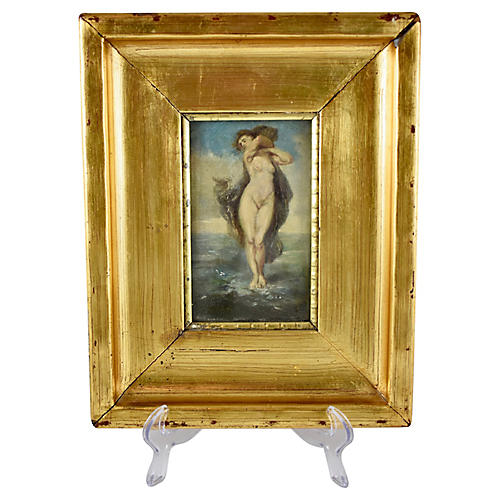 19th-C. French Painting Venus in the Sea