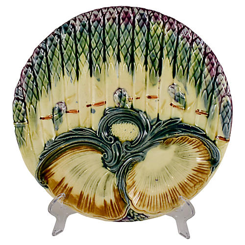 Luneville Asparagus & Shell Plate