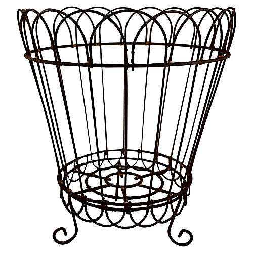 19th-C French Footed Wire Planter