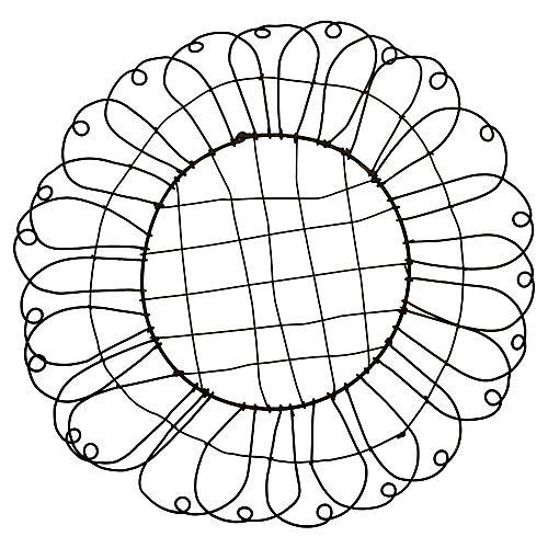 19th-C. French Wire Basket