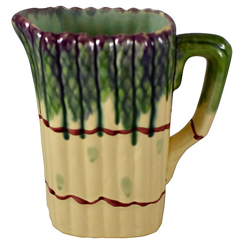 Midcentury French Asparagus Pitcher
