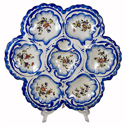 Angouleme French Faience Oyster Plate