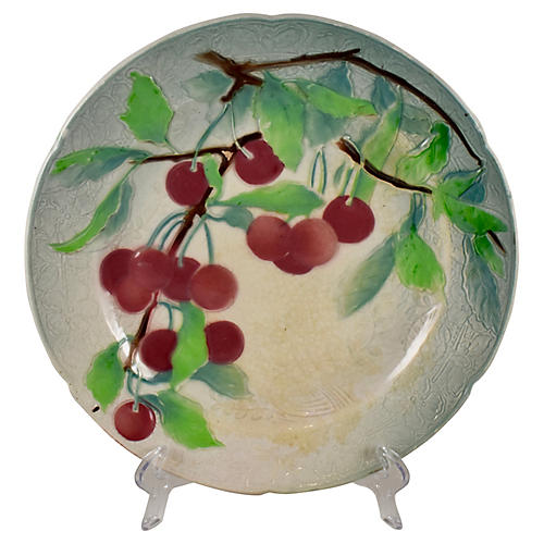 St. Clement Faience Cherry Plate