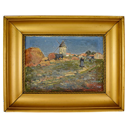 French Marc Mongin Landscape Painting