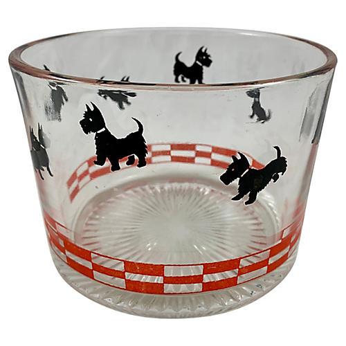 Scotty Dog Glass Ice Bucket