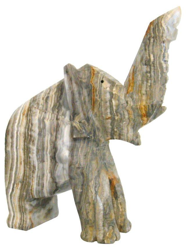 Carved Onyx Elephant