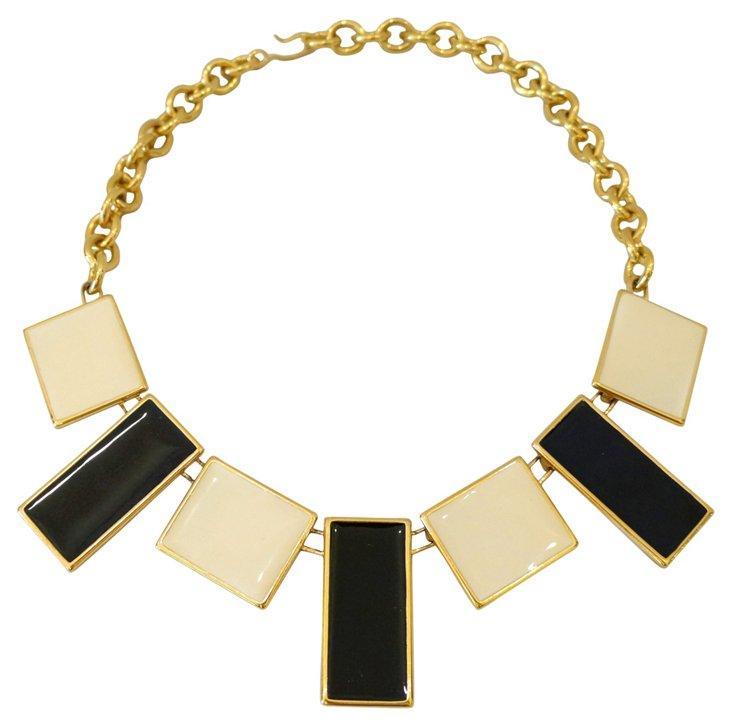 Monet Enamel Necklace