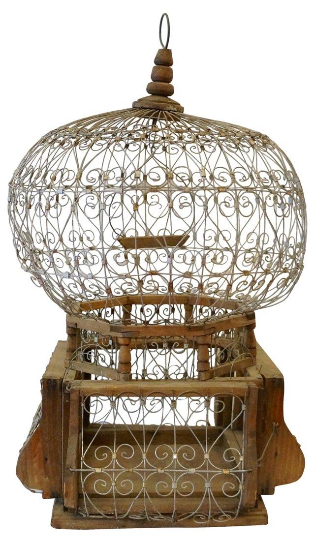 Metal & Wood Birdcage