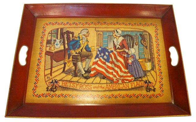 Betsy Ross Americana Tray