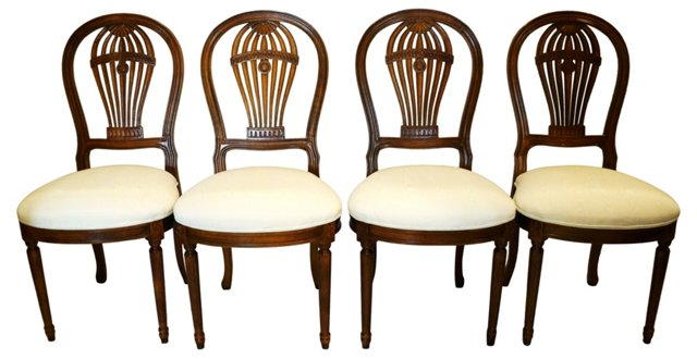 Balloon-Back  Dining Chairs, S/4
