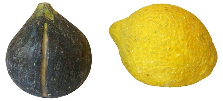 Hand-Painted Marble Lemon & Fig
