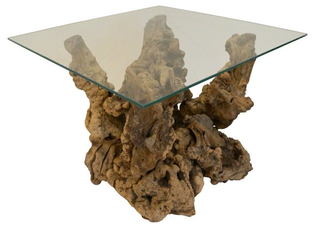 Natural Driftwood Side Table