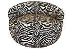 Zebra-Print Lounge Pod Chair