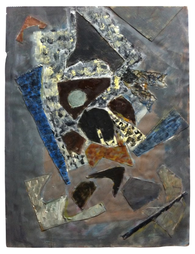Abstract Collage in Grays