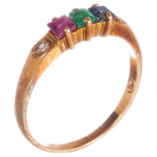 14K Gold & Multi-Gemstone Ring