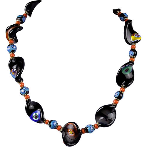 Millefiori Italian Glass Necklace