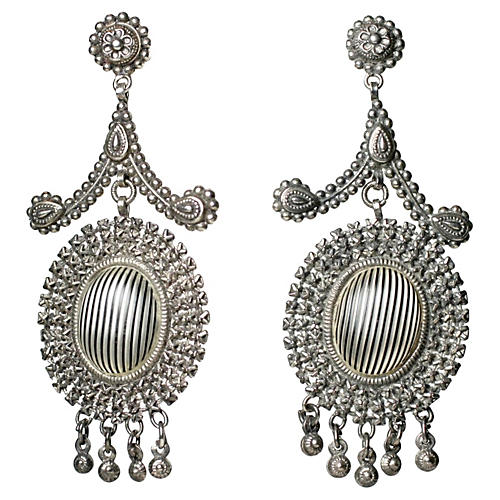 Victorian Cut-Steel Chandelier Earrings