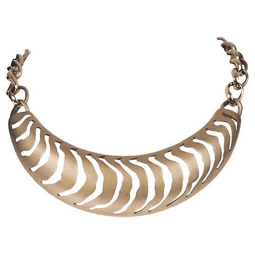 Pierre Cardin Cutout Bib Necklace
