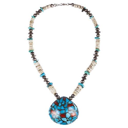 Pueblo Coral & Turquoise Necklace