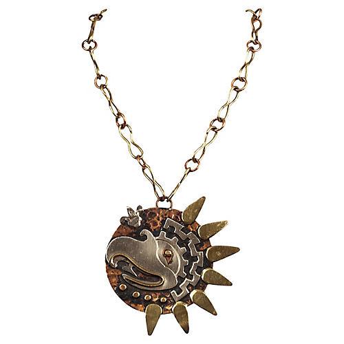 Mexican Handmade Bird Pendant Necklace