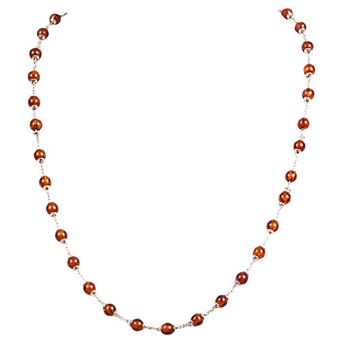 Sterling Silver Baltic Amber Necklace