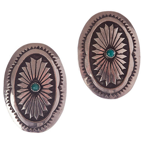Native American-Style Sterling Earrings