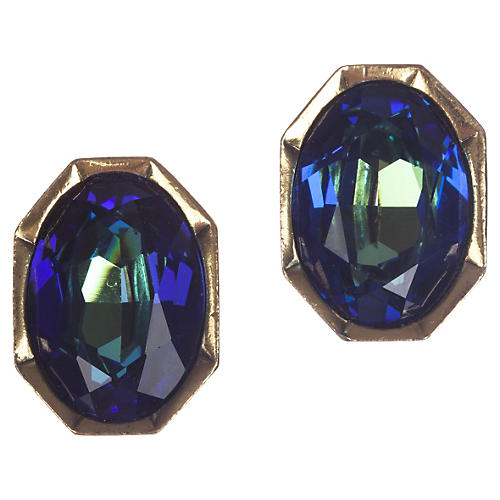 YSL Aurora Borealis Headlight Earrings