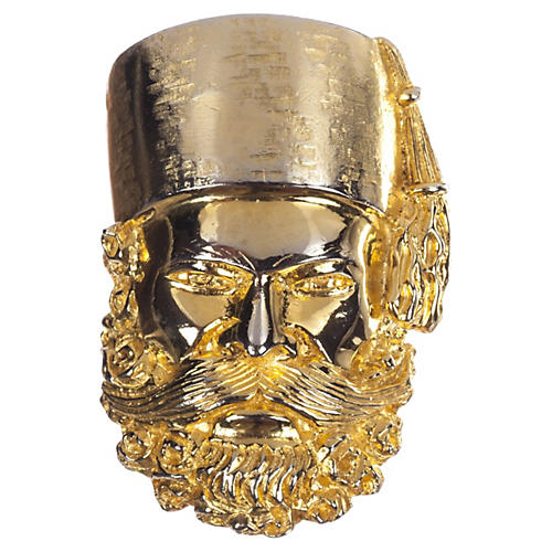 Judith Leiber Sultan Mask Pin Pendant