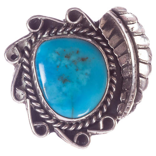 Navajo-Style Sterling & Turquoise Ring