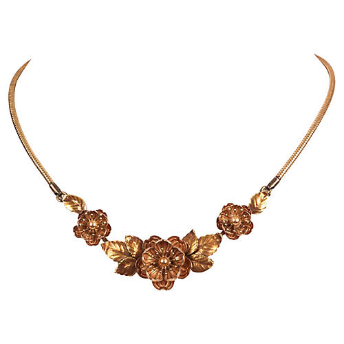 Krementz Gold-Filled Flower Necklace