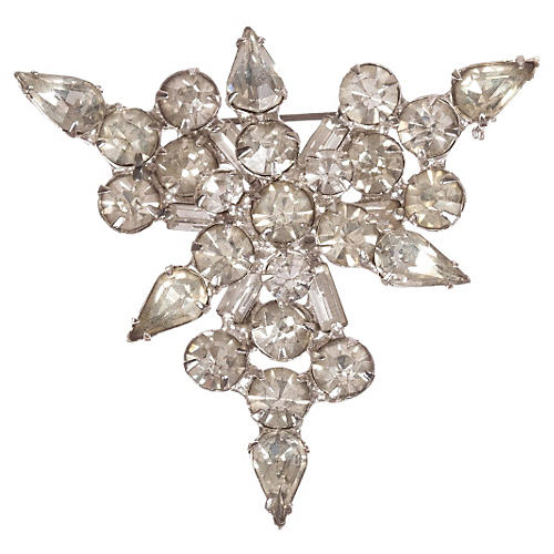 Triangle Shape Rhinestone Pin