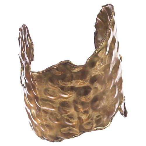 Brutalist Brass Handmade Cuff