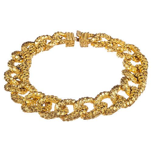 Textured Link Collar Necklace, Mimi Di N