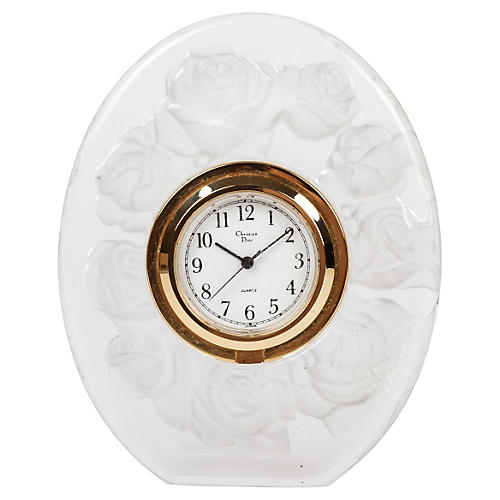Christian Dior Oval Floral Desk Clock