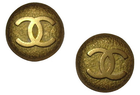 Chanel Rough Cast Monogram Earrings