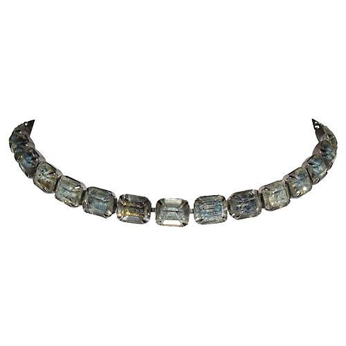 Kramer Cushion-Cut Rhinestone Necklace